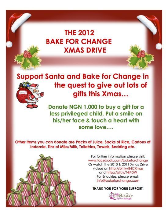 Bake for  Change XmasDrivePoster